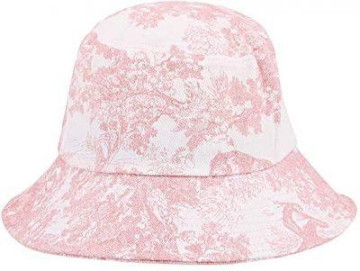 Pink Retro Tie-Dye Bucket Hat