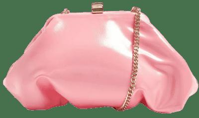 Pink Patent Mini Clutch Bag