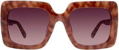 Plum Tortoise Sasha Thick Square Oversized Sunglasses-DIFF Eyewear