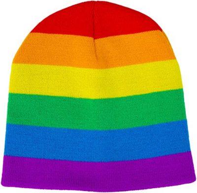 Rainbbow Flag-Themed Premium Beanie