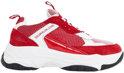 Red And White Marvin Chunky Sneakers-Calvin Klein