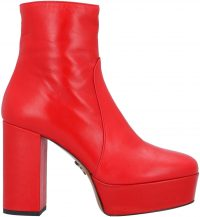 Red Ankle Boot-Pinko