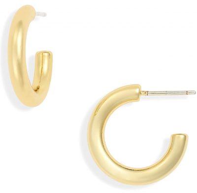 Shiny Gold Chunky Small Hoop Earrings