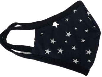 Star Print Face Mask-Be Boutique