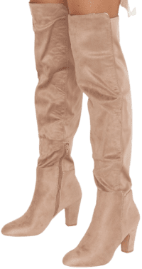 Taupe Suede Canyons High Boot-Show Me Your Mumu