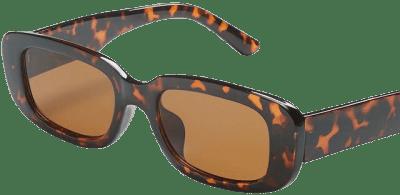 Tortoise Print Oval Sunglasses-Lane Bryant