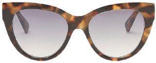 Tortoiseshell Round Tinted Sunglasses-Express