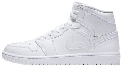 White Air Jordan 1 Mid Shoe-Nike