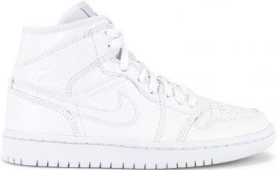 White Air Jordan 1 Mid Sneaker-Jordan
