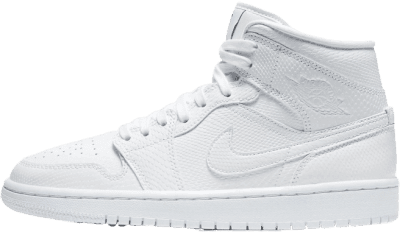 White Air Jordan 1 Mid Sneakers