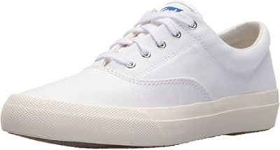 White Anchor Canvas Sneakers