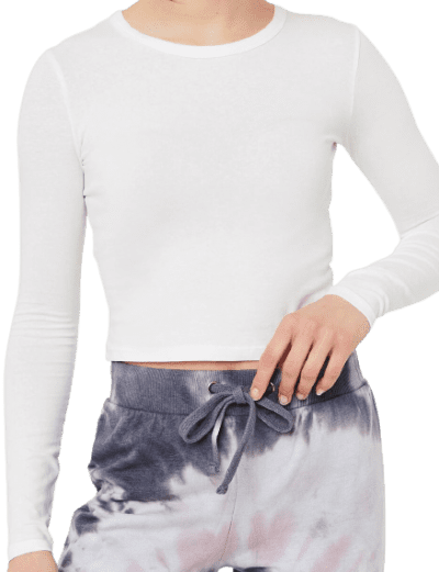 White Basic Long-Sleeved Tee-Ardene