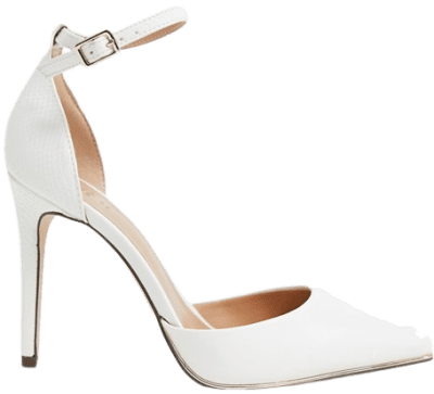 White Call It Spring Heeled Pumps