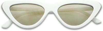 White Cat-Eye Sunglasses-SunglassUP