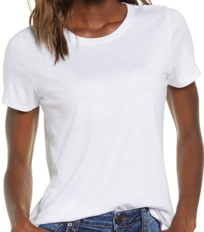 White Crewneck T-Shirt-BP.