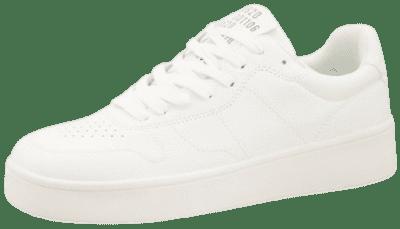 White Flatform Retro Sneakers-Bershka