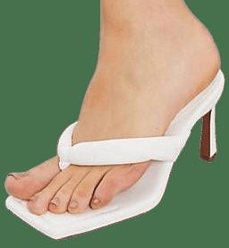 White Haven Padded Toe Thong Heeled Sandals-Asos Design