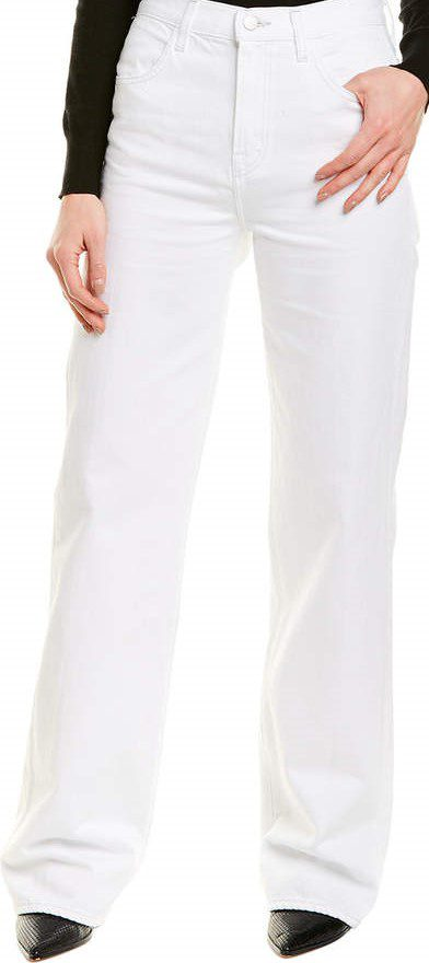 White Joan High-Rise Wide-Leg Pants