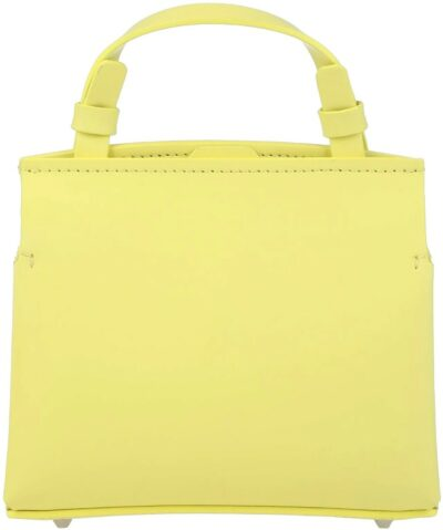 Yellow Bovine Leather Handbag-Nico Giani