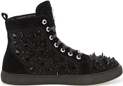 Zambia Studded Suede High Top Sneaker-J75