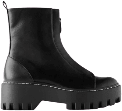 Zippered Low Heeled Ankle Boots-Zara