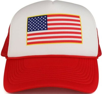 American Flag Two Tone Trucker Cap-Armycrew