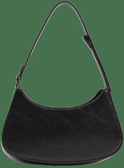 Black Baguette Bag-Mango