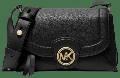Black Bowery Medium Pebbled Leather Crossbody Bag