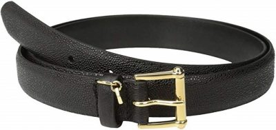 Black Faux Stingray Belt-Ralph Lauren