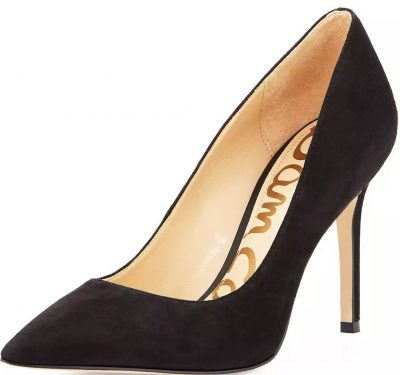 Black Hazel Pointed-Toe Suede Pumps