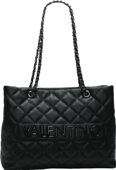 Black Large Licia Quilted Tote Bag