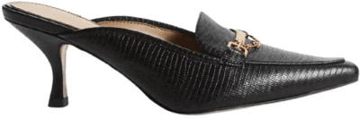Black Lizard Tenetta Kitten Heel Mule-Sam Edelman