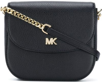 Black Mott Crossbody Bag-Michael Kors
