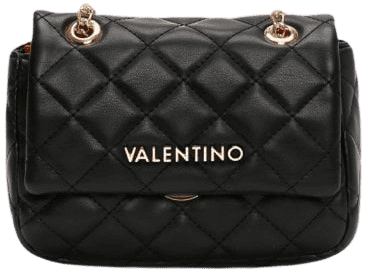 Black Ocarina Quilted Crossbody Bag