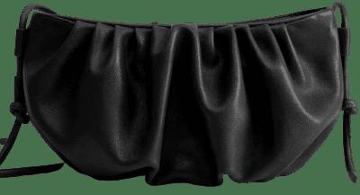 Black Pleated Volume Bag