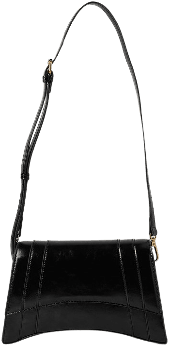 Black Sharp Edge Shoulder Bag-NA-KD