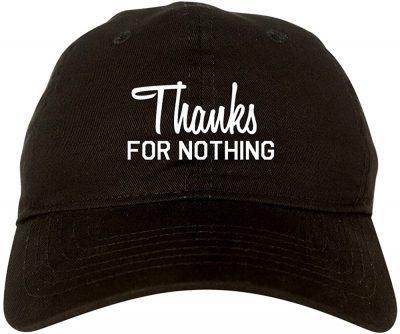 Black Thanks for Nothing Baseball Cap-Fashionisgreat
