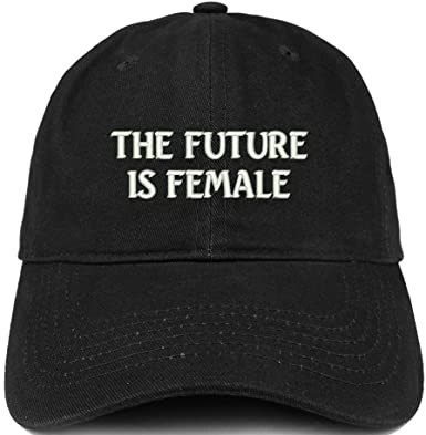 Black The Future is Female Embroidered Hat-Trendy Apparel Shop