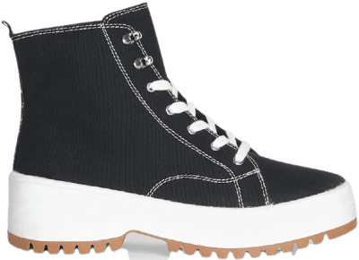 Black Translucent Sole High-Top Trainers