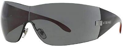 Black Wrap Square Sunglasses