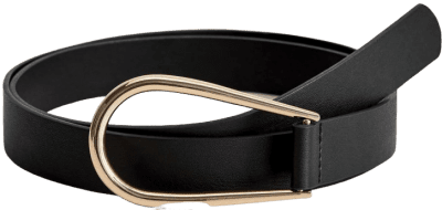 Black Adjustable Buckled Belt