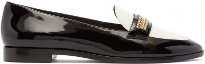 Blair Crystal-Trim Patent-Leather Loafers-Sophia Webster