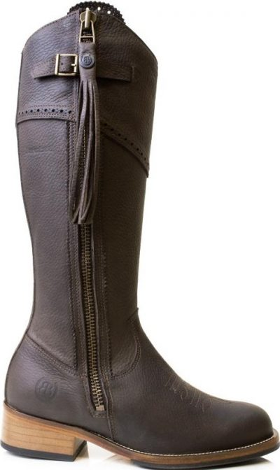 Brown Mustang Mid Calf Boot