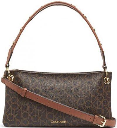 Brown Raya Signature Demi Shoulder Bag-Calvin Klein