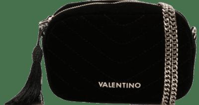 Carillon Black Velvet Quilted Belt Bag