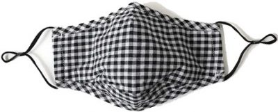 Checkered Fabric Face Mask-Lockwood