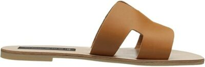 Cognac Leather Greece Sandal-Steven New York