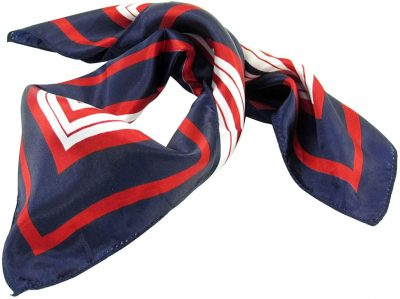 Dark Blue Red White Stripe Scarf