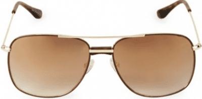 Gold Aviator Square Sunglasses