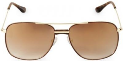 Gold Aviator Square Sunglasses-Sam Edelman
